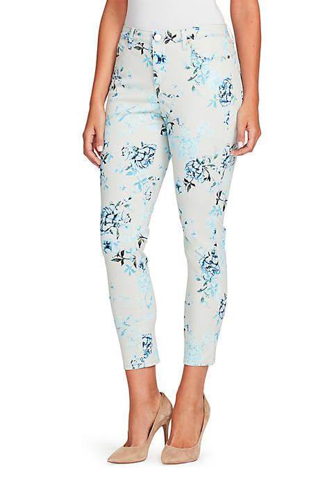 Bandolino Lisbeth Ankle Bloom Garden Jeans