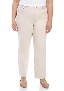 Gloria Vanderbilt Plus Size Amanda Basic Short Jeans
