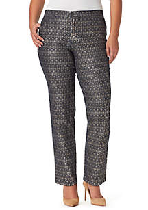 Plus Size Amanda Havana Tiles Pants