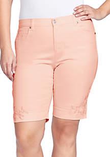 Gloria Vanderbilt Plus Size Amanda Bermuda Shorts