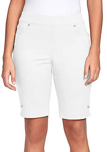 Gloria Vanderbilt Avery Pull On Bermuda Shorts