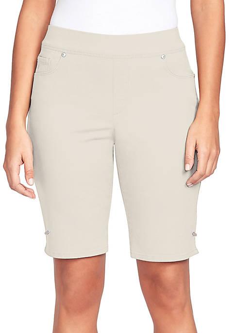 Gloria Vanderbilt Avery Pull On Bermuda Shorts