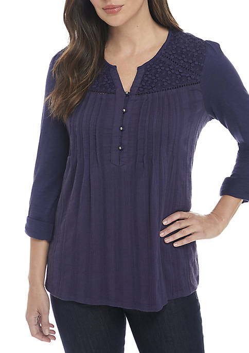 Gloria Vanderbilt Zuri Peasant Top