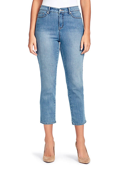 Gloria Vanderbilt Rail Straight Cropped Jeans