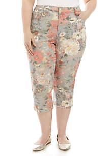 da8ea4a2d0f8e Gloria Vanderbilt Amanda Bermuda Shorts · Gloria Vanderbilt Plus Size  Printed Amanda Capris