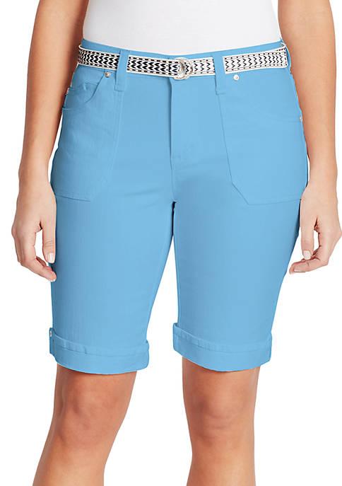Gloria Vanderbilt Mia Belted Bermuda Shorts