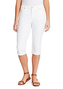 Gloria Vanderbilt Rail Straight Cropped Jeans