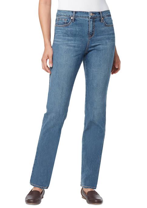 Gloria Vanderbilt Womens Rail Straight Leg Denim Jeans