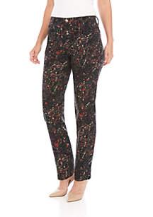 Gloria Vanderbilt Amanda Floral Burst Average Jeans