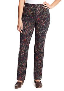 Gloria Vanderbilt Amanda Floral Burst Jeans