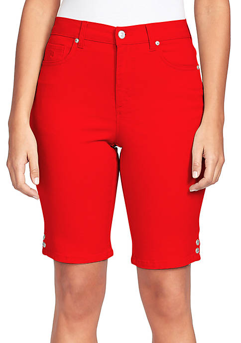 Gloria Vanderbilt Petite Amanda Denim Bermuda Shorts