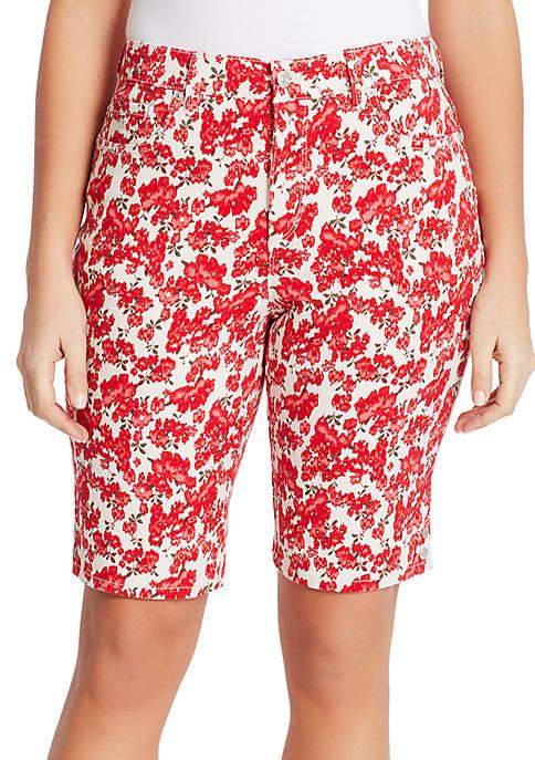 Gloria Vanderbilt Petite Amanda Printed Bermuda Shorts