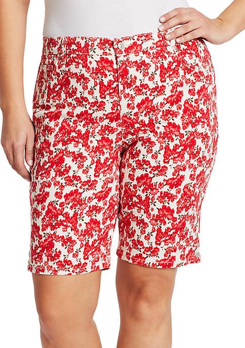 Gloria Vanderbilt Plus Size Garden Amanda Bermuda Shorts