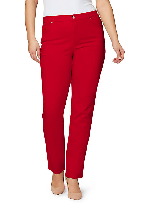 Gloria Vanderbilt Plus Size Amanda Straight Leg Pants