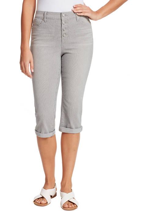Gloria Vanderbilt Womens Rail Straight Capri Pants