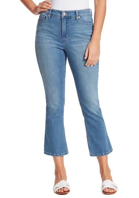 Womens Cropped Kick Jeans