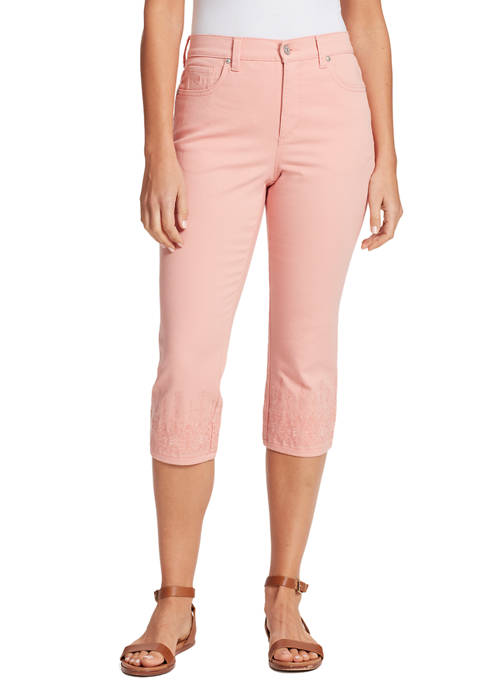 Womens Amanda Capri With Embroidery