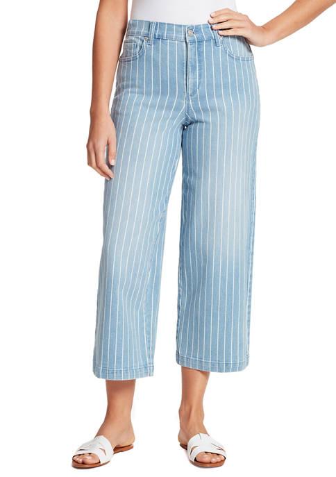 Gloria Vanderbilt Womens Amanda Wide Leg Crop Jeans