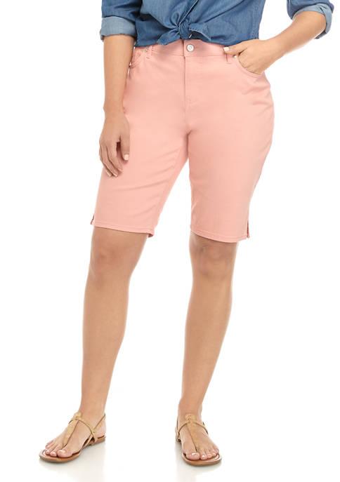 Gloria Vanderbilt Womens Mid Rise Bermuda Shorts