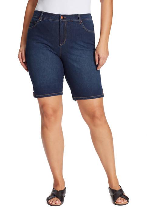 Gloria Vanderbilt Plus Size Denim Bermuda Shorts