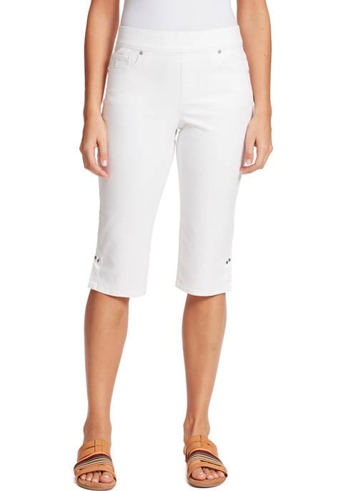 Gloria Vanderbilt Womens Pull On Skimmer Shorts