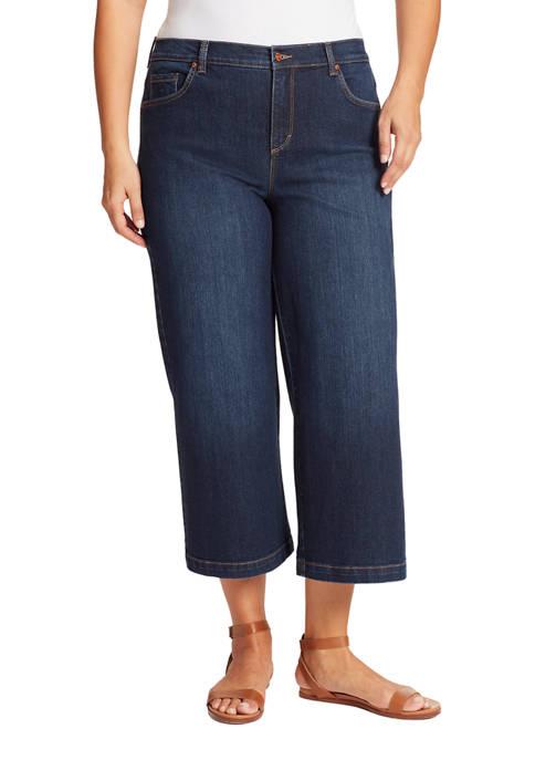 Gloria Vanderbilt Plus Size Amanda Wide Leg Cropped