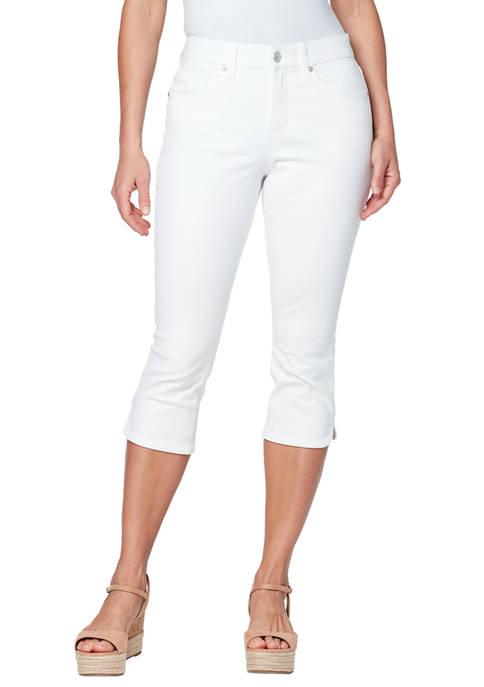 Petite Comfort Curvy Capri Pants with Dolphin Hem