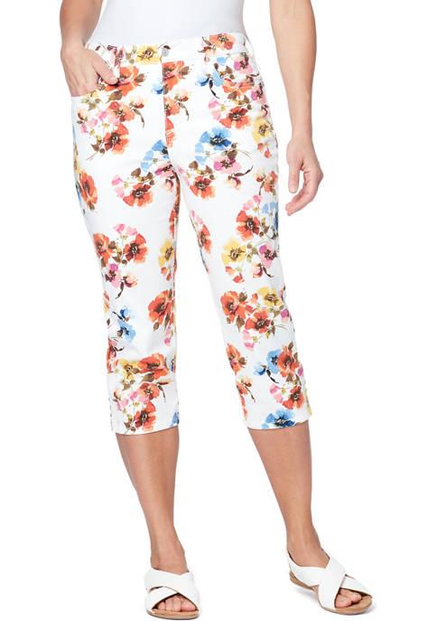 Gloria Vanderbilt Womens 5 Pocket Capri Pants