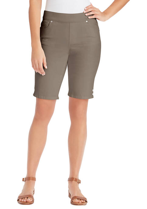 Gloria Vanderbilt Petite Avery Pull On Bermuda Shorts