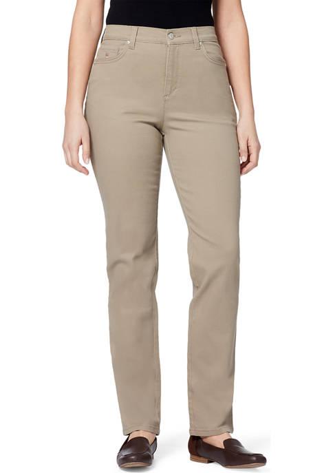 Gloria Vanderbilt Womens Amanda Color Jeans- Short