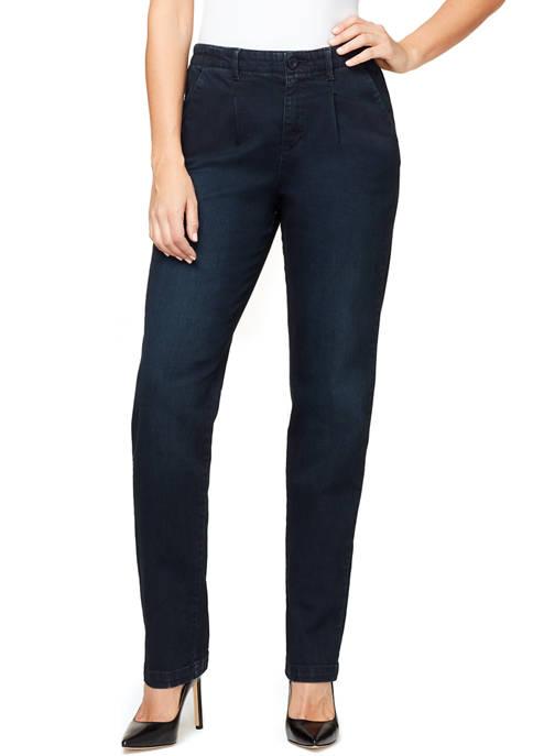 Gloria Vanderbilt Womens Pleated Chino Pants