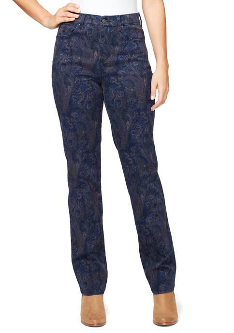 Gloria Vanderbilt Womens Amanda Printed Pants