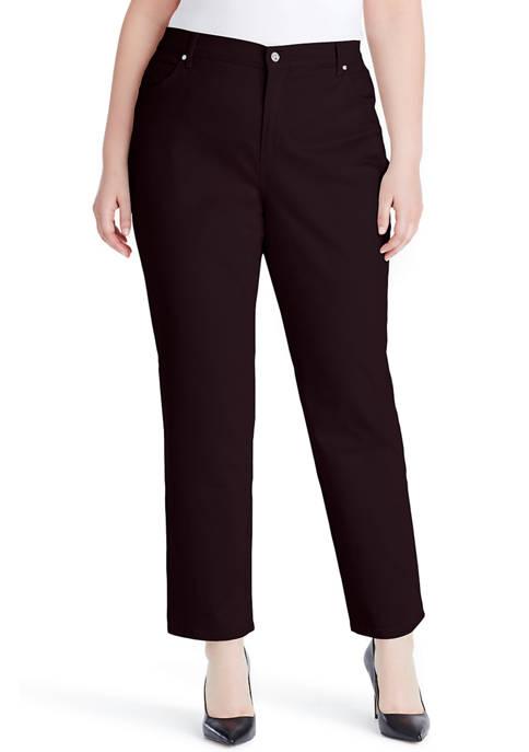 Gloria Vanderbilt Plus Size Amanda Jeans- Short