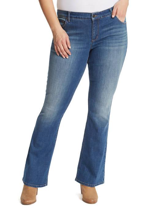 Gloria Vanderbilt Plus Size Mid Rise Bootcut Jeans