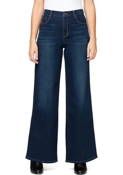 Gloria Vanderbilt Womens Amanda High Rise Wide Leg