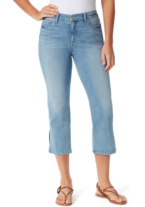 Gloria Vanderbilt Womens Straight Leg Cropped Denim Jeans