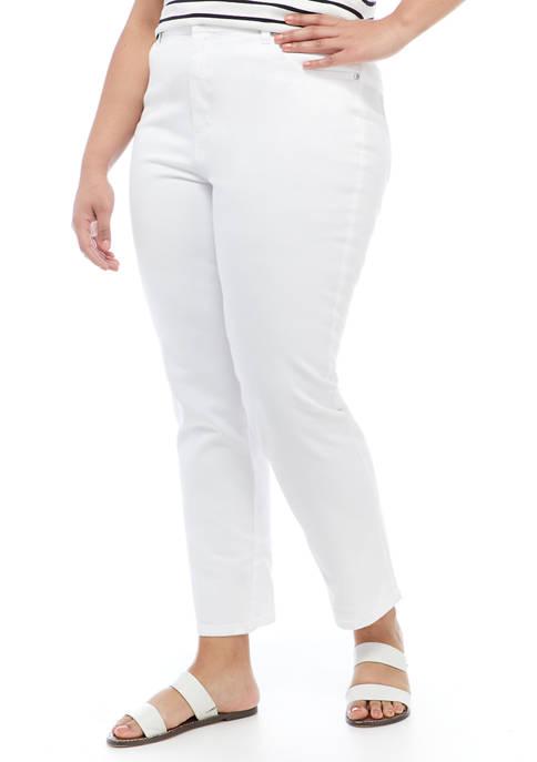 Gloria Vanderbilt Plus Size Amanda Color Wash Pants