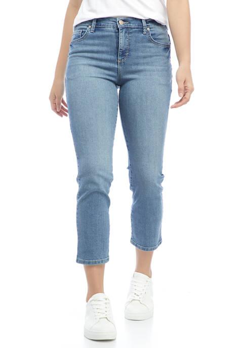 Gloria Vanderbilt Petite Mid Rise Short Denim Jeans