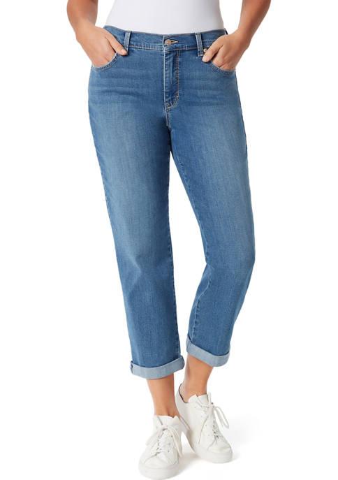 Gloria Vanderbilt Womens Mid Rise Boyfriend Jeans