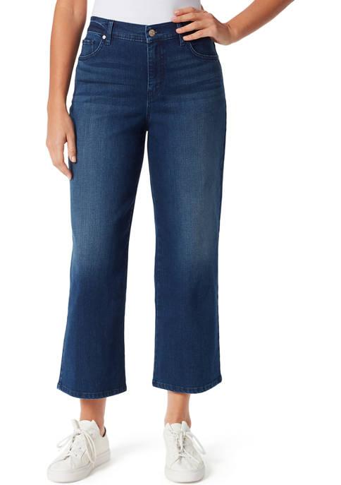 Gloria Vanderbilt Petite Wide Leg Cropped Jeans