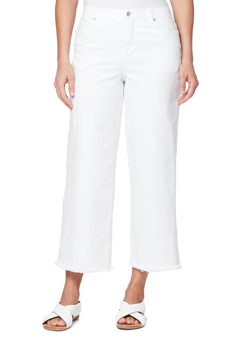 Gloria Vanderbilt Womens Wide Leg Cropped Pants