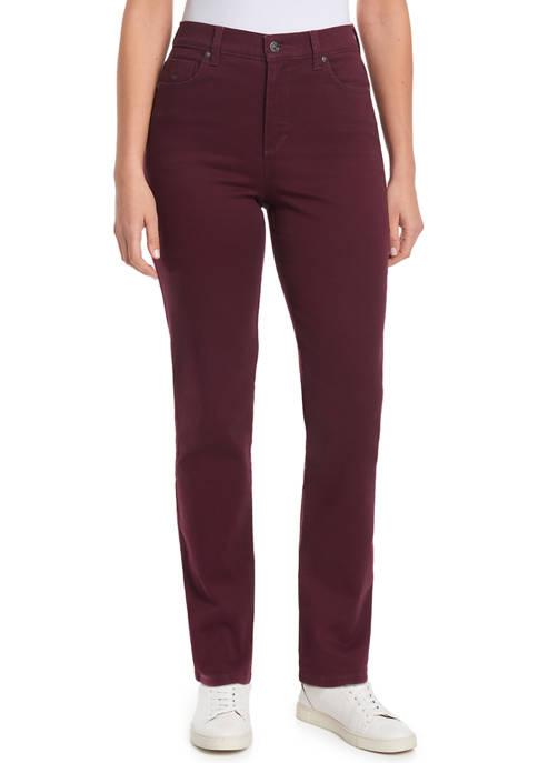 Gloria Vanderbilt Womens Amanda Straight Jeans- Short Length