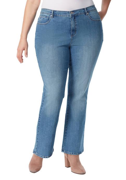 Gloria Vanderbilt Plus Size Amanda Bootcut Short Jeans