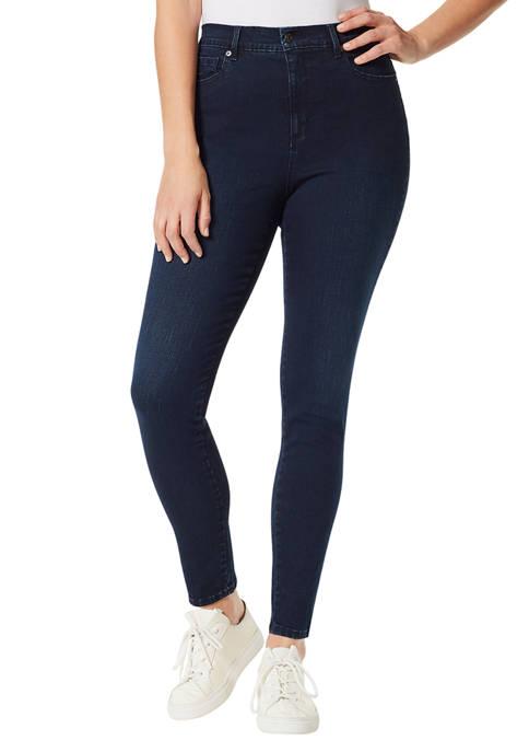 Womens Amanda Skinny Short Length Jeans