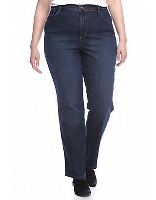NEW Womens Denim Blue Jeans Plus Size 26 Average Pants Stretch Relaxed 5 Pockets
