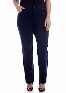 Plus Size Amanda 5-Pocket Colored Jean (Short & Average Inseam)