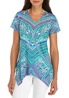 Gloria Vanderbilt Keisha Cutout Top