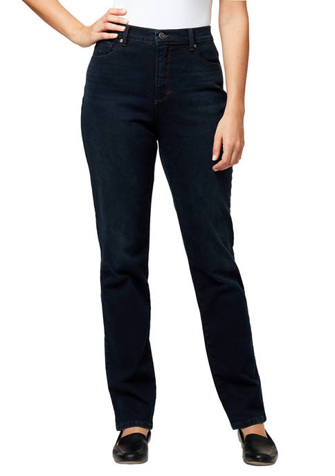 Gloria Vanderbilt Petite Womens Amanda Denim Jeans