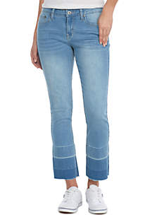Extreme Released Hem Straight Leg Jean