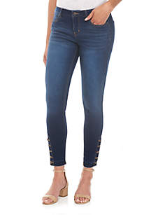 Release Hem Ankle Button Jeans